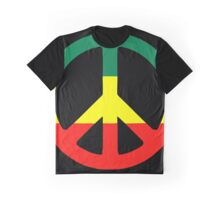 Rasta Peace Graphic T-Shirt