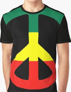 Rasta Peace Graphic T-Shirt
