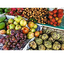 Variation of tropical fruits on stall at market Photographic Print