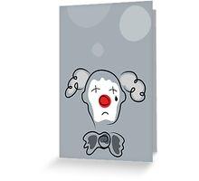 Portrait of a sad clown  Greeting Card