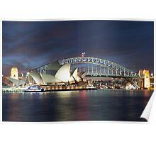 Sydney Harbour at dusk Poster