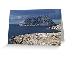 Stormy weather on Maire Island Greeting Card