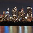 Sydney skyline at dusk by KeithMcInnes
