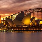 Sydney Opera House at sunset by KeithMcInnes