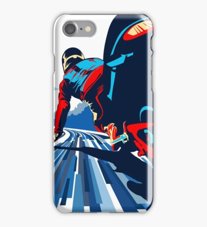 Motor racer speed demon iPhone Case/Skin