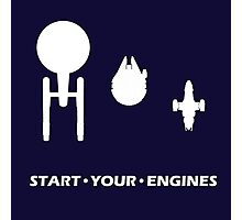 Start Your Engines Photographic Print