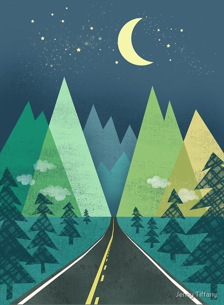 the Long Road at Night by Jenny Tiffany