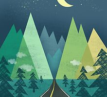 the Long Road at Night by Jenny Tiffany