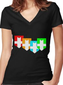 Elemental Knights Women's Fitted V-Neck T-Shirt
