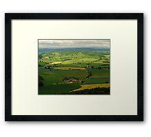West Country landscape, England, UK, 1980s Framed Print