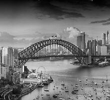 It's All Black and White - Sydney Harbour, Sydney Australia - The HDR Experience by Philip Johnson