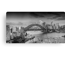 It's All Black and White - Sydney Harbour, Sydney Australia - The HDR Experience Canvas Print