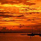 Sunset at Palmetto Point, FL by Kelly Rockett-Safford