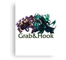 Blitzcrank and Thresh - Grab & Hook Canvas Print
