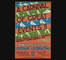 Vintage poster - South Australia One Piece - Short Sleeve