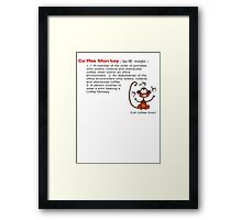 Coffee Monkey - Definition - Sticker Framed Print