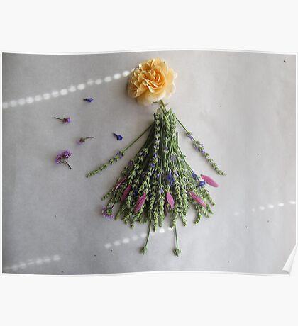 Rose in lavender dress Poster