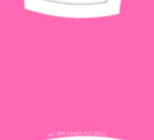 Little Dog Bone Die Cut in Hot Pink Sticker