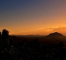 Mt Coonowrin and Mt Beewah Sunrise by Jaxybelle