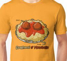 Maze Shirts: Spaghetti 'n Meatballs! Unisex T-Shirt