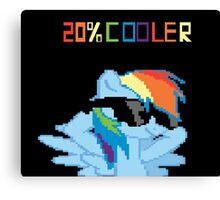 20% Cooler Rainbow Dash My Little Pony Unisex Male Female Brony Pegasister Pixel Canvas Print