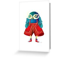 My Owl Red Pants Greeting Card