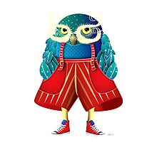 My Owl Red Pants Photographic Print