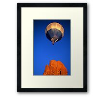 Hot Air Balloon Monument Valley Framed Print