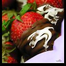Strawberries in Chocolate Blankets by Nicole  McKinney