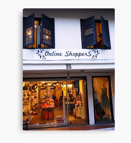Online shoppers Canvas Print