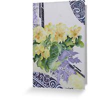 Primrose's in spring  Greeting Card