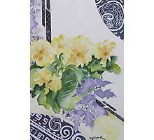 Primrose's in spring  Photographic Print