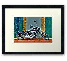 Harley Davidson oil Framed Print