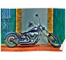 Harley Davidson oil Poster