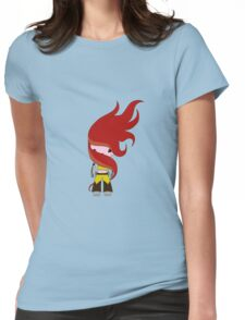 Flamy Robot Womens Fitted T-Shirt