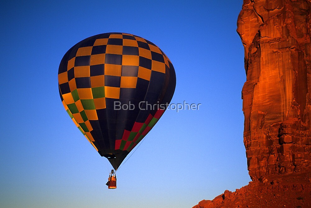 Hot Air Balloon Monument Valley 3 by Bob Christopher