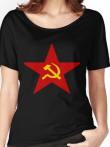 Communist Star Hammer And Sickle Women's Relaxed Fit T-Shirt