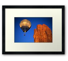 Hot Air Balloon Monument Valley 4 Framed Print