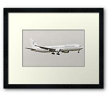Blue Panorama Airlines Boeing 767-300. Framed Print