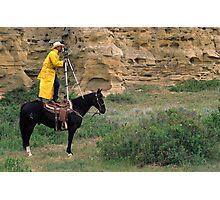 Cowboy Photographer Photographic Print