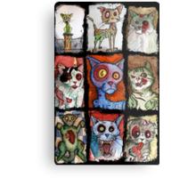 9 zombie cats Metal Print