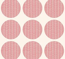 Seamless pattern with circles and hand drawn chevron pattern by BlueLela