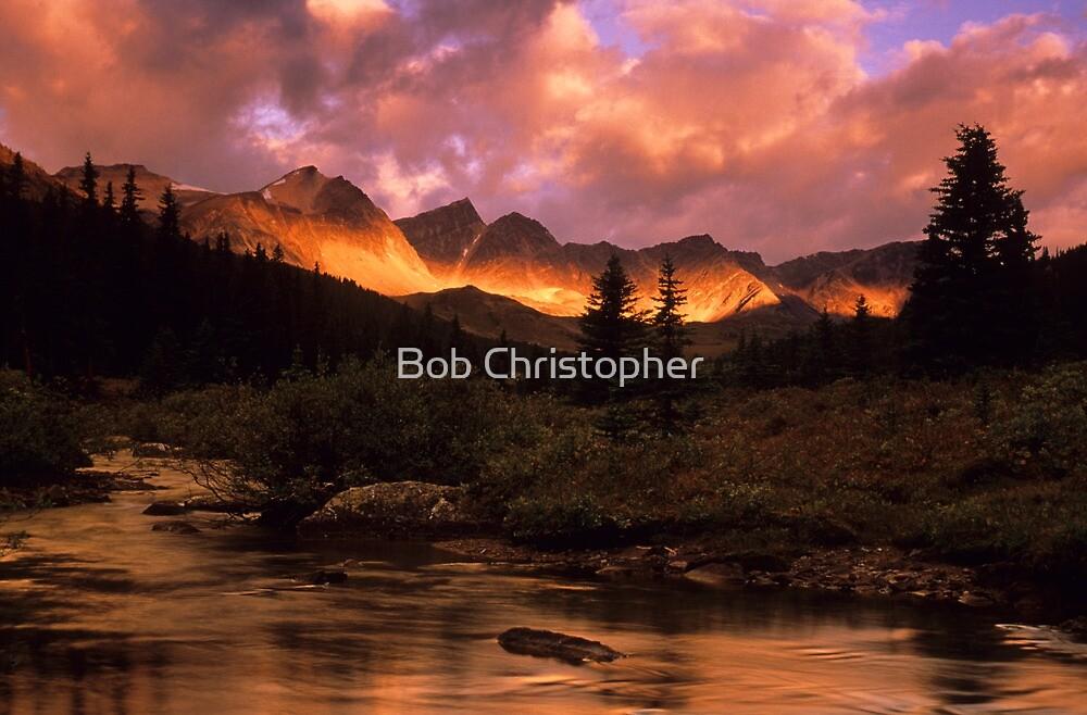 Maligne Pass Morning Light by Bob Christopher