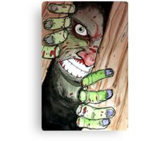 zombie breaking in Canvas Print
