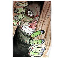 zombie breaking in Poster