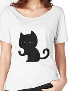 Creepy Cat Women's Relaxed Fit T-Shirt