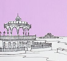 Brighton Bandstand & Pier ( Lilac ) by Adam Regester