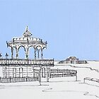 Brighton Bandstand &amp; Pier ( Pale Blue ) by Adam Regester