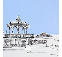Brighton Bandstand & Pier ( Pale Blue ) Photographic Print