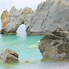 Limestone Arch - Lalaria Beach, Skiathos Island, Greece. by Honor Kyne